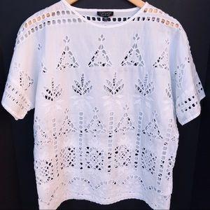Topshop lace crochet top